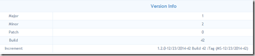 Version Info Section