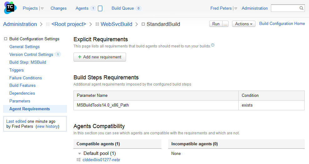 Agent Requirements
